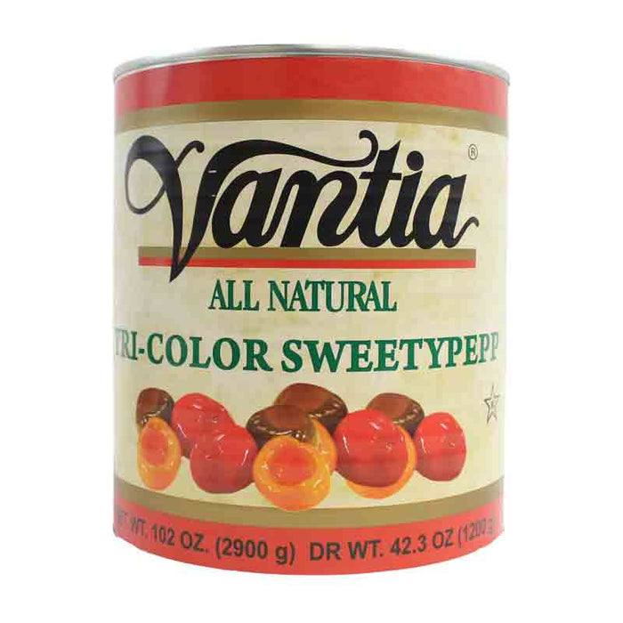 Vantia Tricolor SweetyPepp Peppers, 102 oz (2.9 kg)