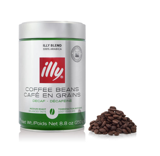 illy Whole Bean Decaffeinated Coffee, 8.8 oz (250 g)