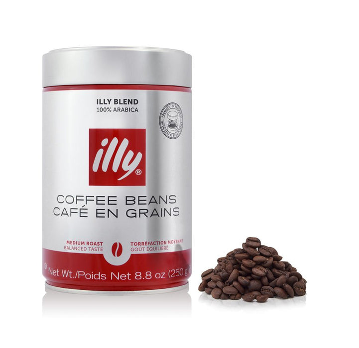 illy Medium Roast Whole Bean Coffee, 8.8 oz (250 g)