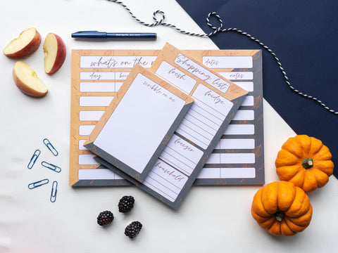 autumn stationery collection
