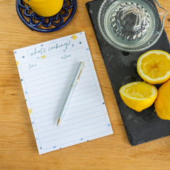 cooking schedule notepad