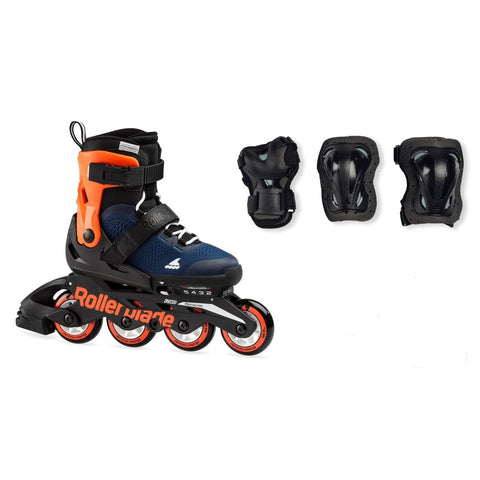 Rollerblade Microblade Combo (Adjustable) – Blue/Orange *PRE-ORDER*