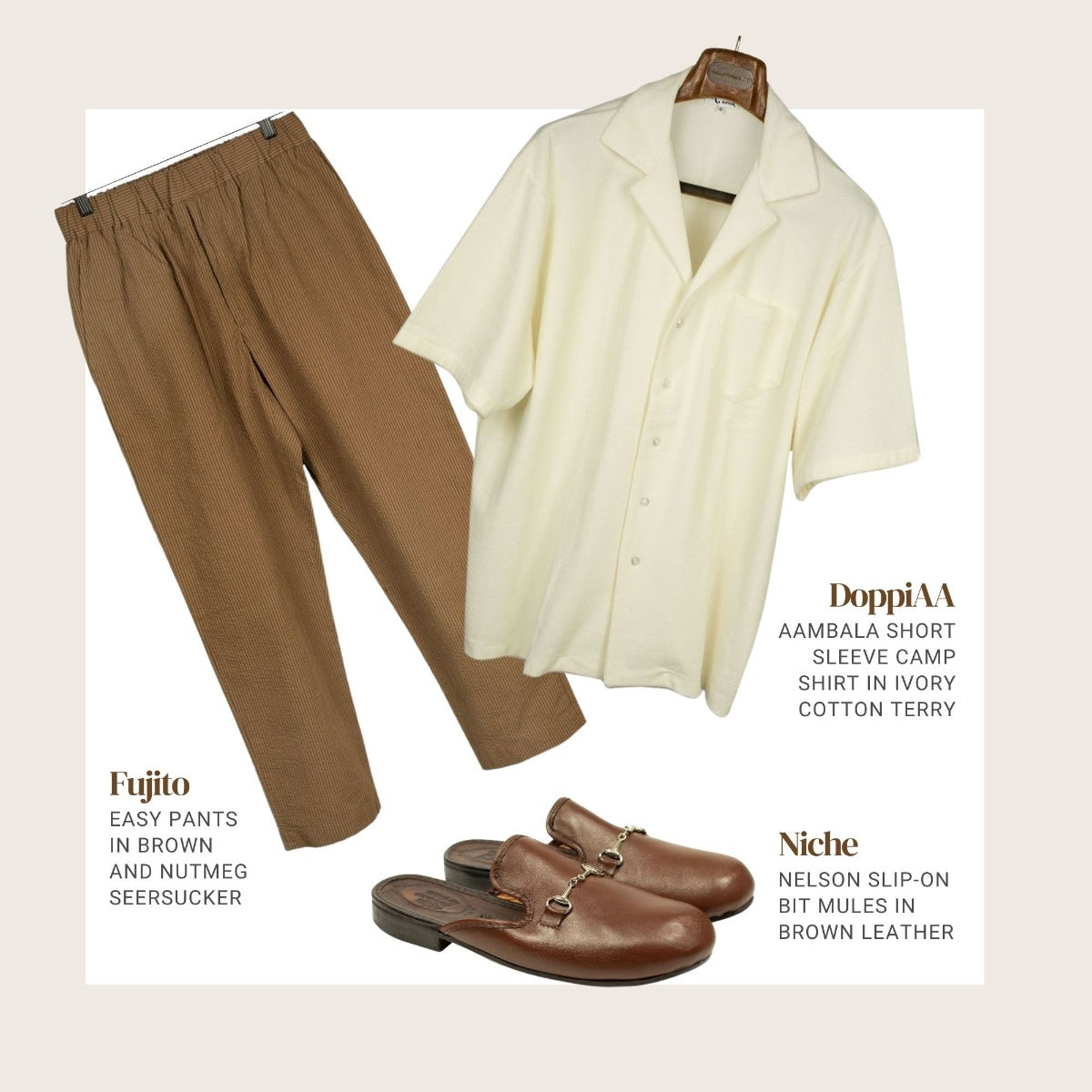 Terrycloth and linen outfit 2