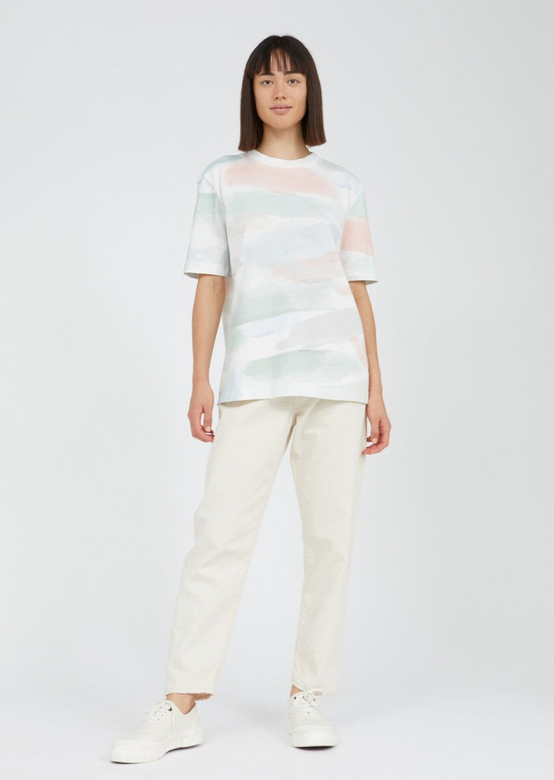 T-Shirt TARAA COLOR STROKES in off white von ARMEDANGELS