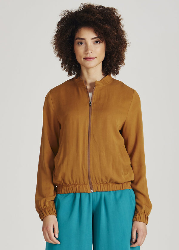 Blouson DEBBY rubber brown von Givn