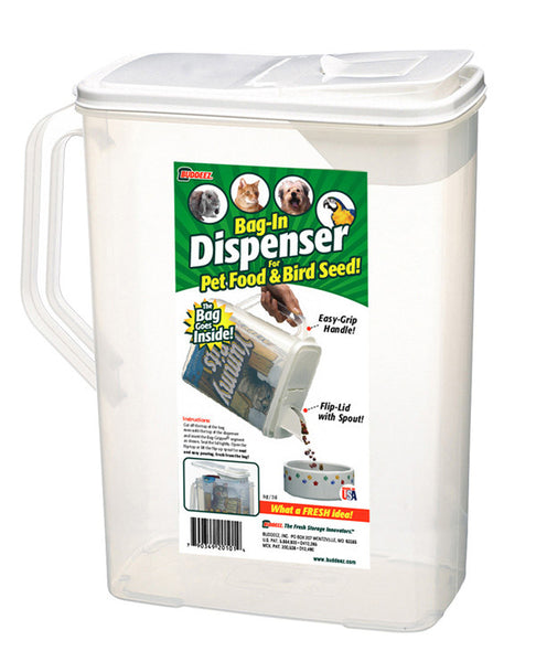 Buddeez 8-Quart Dispenser for Pet Food and Bird Seed - Fresh Colony