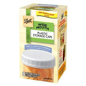 Ball 37000 Wide Mouth Plastic Storage Caps 8 Count - Fresh Colony