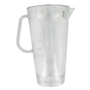 Arrow Plastic Clear Hammered Plastic Pitcher with Lid, 64 oz - Fresh Colony