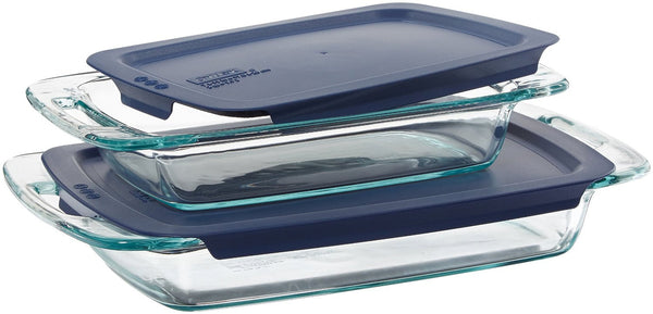 Easy Grab Oblong 4 Piece Bakeware Set Color: Blue - Fresh Colony