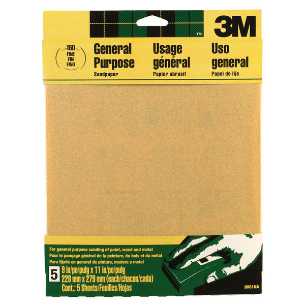 3M Sandpaper Aluminum Oxide, Fine, 9-Inch by 11-Inch - Fresh Colony