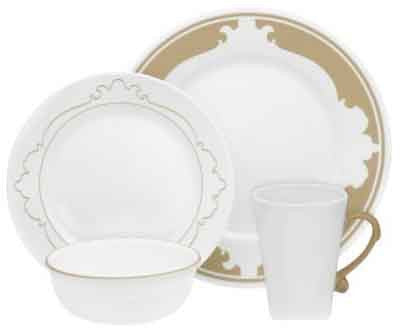 Corelle B-Frames Taupe 16-Piece Set - Fresh Colony