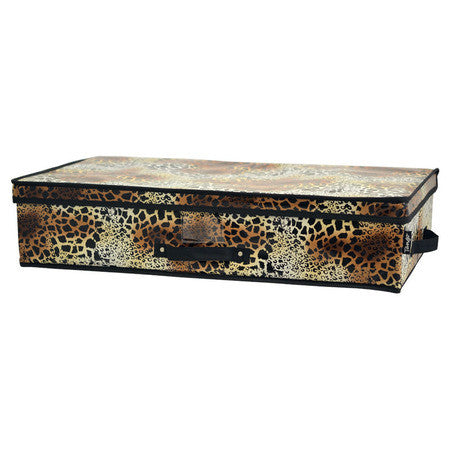 Tango Folding Under-Bed Storage Box-Leopard - Fresh Colony