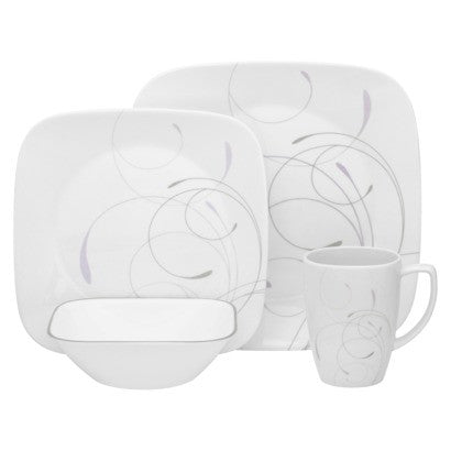 16 Piece Square Dinnerware Set - Vio- Corelle - Fresh Colony