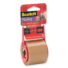 Scotch 1.88 x 800 Inches Mailing Tape with Dispenser, Tan (147) - Fresh Colony
