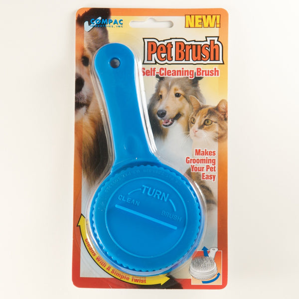 Compac Self Cleaning Pet Brush Twist To Raise and Lower Bristles - Fresh Colony