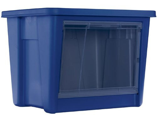 Rubbermaid Access Storage Tote, Large, Blue - Fresh Colony