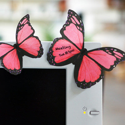 MOLLA SPACE - BUTTERFLY STICKY NOTES (PINK) - Fresh Colony  - 1
