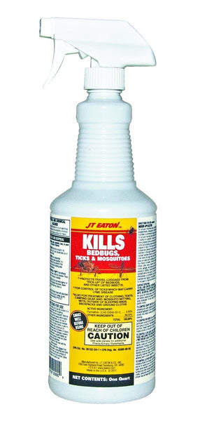 JT Eaton 209-W Bedbugs Ticks and Mosquito Spray with Sprayer, 1-Quart - Fresh Colony