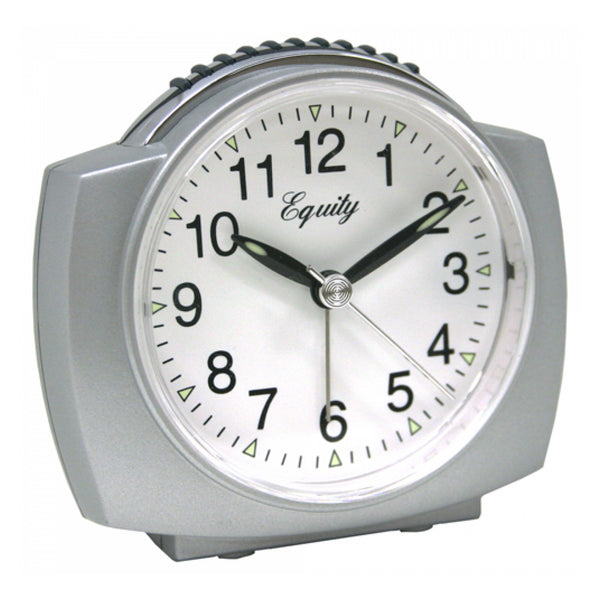Equity by La Crosse 27006 Battery Operated Analog Alarm Clock, Silver - Fresh Colony