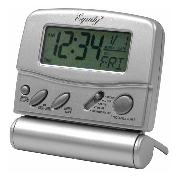 Equity by La Crosse 31302 LCD Fold-Up Travel Alarm Clock - Fresh Colony