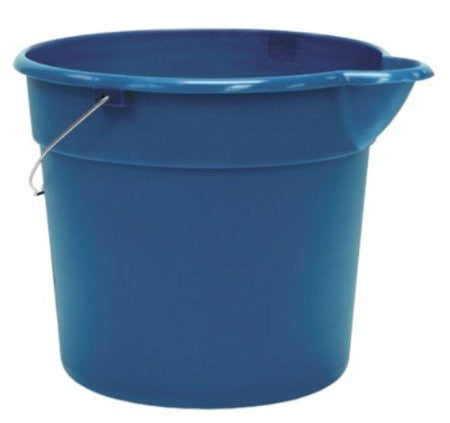 United Solutions PA0147 Blue 3 Gallon (12 Quart) Plastic Utility Pail with Handle and Pouring Spout - Pack of Three (3) - Fresh Colony