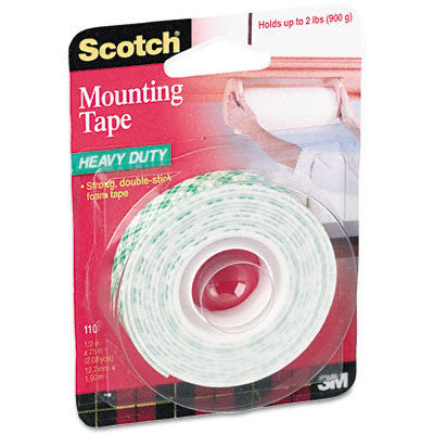 "3M Scotch Foam Mounting Tape-Mounting Tape, Foam, Holds 2 lb., 1/2""x75"", White - Fresh Colony"