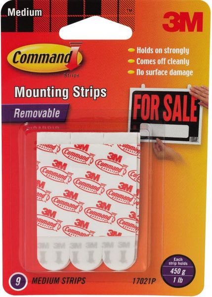 Command Medium Mounting Refill Strips, 9-Strip - Fresh Colony
