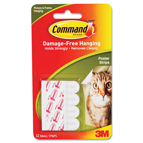3M Company Command 17024 Poster Strips w/Adhesive, 12/Pkg: White - Fresh Colony