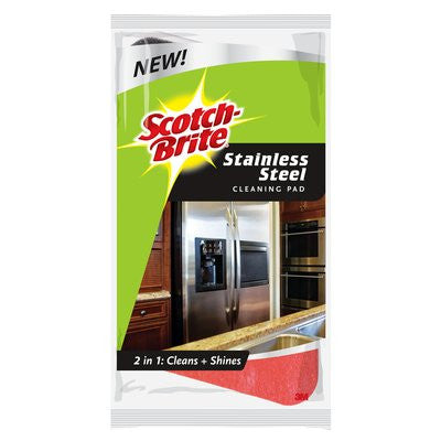 3M SBUS-PS-SS Stainless Steel Cleaning Pads - Fresh Colony
