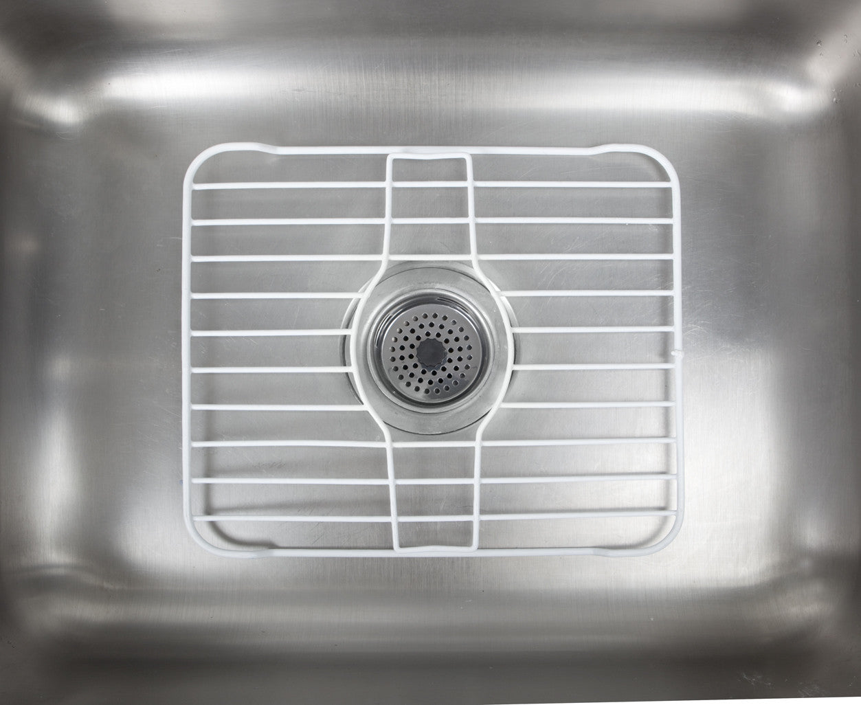 Charmant Kennedy Kitchen Sink Insert Rock, Sink Rust Resisted Protector Grid, White,  13 Long