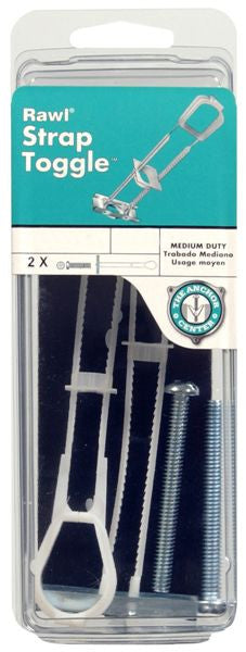 The Hillman Group 41984 Strap Toggle Anchor 3/16 2-Pack - Fresh Colony