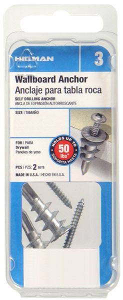 The Hillman Group 5089 Self Drilling Drywall Anchors, Zinc - Fresh Colony