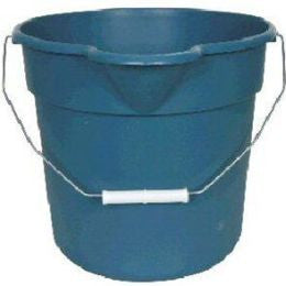 United Solutions PA0013 Blue 4.5 Gallon (18 Quart) Plastic Utility Pail with Handle and Pouring Spout - Fresh Colony