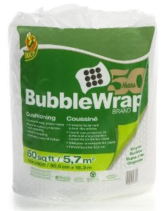 Duck Brand Bubble Wrap Original Cushioning, 24 Inches Wide x 35 Feet Long, Single Roll (1062218) - Fresh Colony