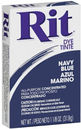 Rit Dye Powdered Fabric Dye, Navy Blue - Fresh Colony