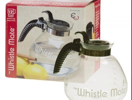12 Cup Glass Whiste Tea Kettle - Fresh Colony