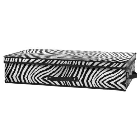 Tango Folding Under-Bed Storage Box-Zebra - Fresh Colony