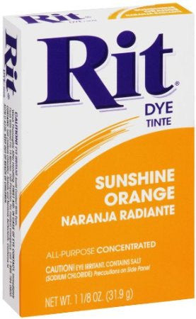 Rit Powder Dye Sunshine Orange  1.125 Ounces - Fresh Colony
