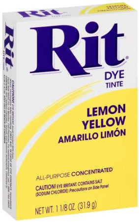 Rit Powder Dye Lemon Yellow 1.125 Ounces - Fresh Colony