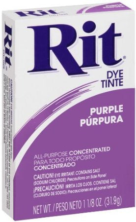 Rit Powder Dye Purple 1.125 Ounces - Fresh Colony