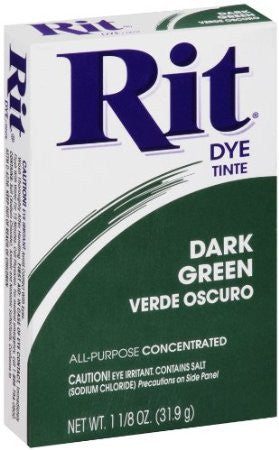 Rit Dye 100696 Rit Dye Powder-Dark Green - Fresh Colony