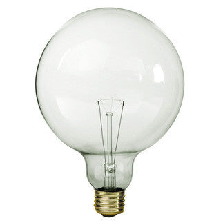 100 Watt - G40 - Clear - 5 in. Dia. - 120 Volt - 4000 Life Hours - Decorative Globe - Medium Base - Satco S3013 - Fresh Colony
