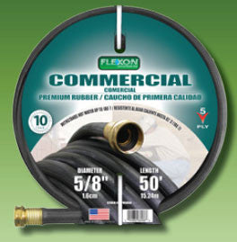 Flexon PH5850 5/8-Inch x 50-Foot Heavy Duty Premium Rubber Hot Water Hose - Fresh Colony