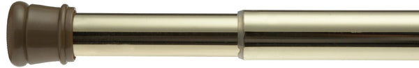 Carnation Home Fashions Adjustable 41-to-76-Inch Steel Shower Curtain Tension Rod, Brass - Fresh Colony