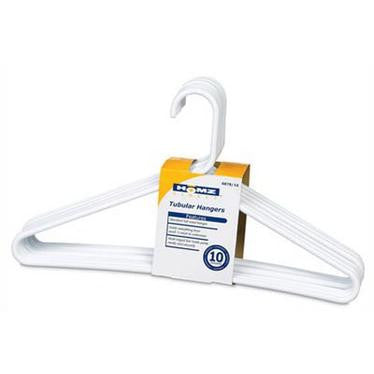 Tamor Plastics Corp. 6808/10WH.14 Cheerful Tubular Plastic Clothes Hanger - Fresh Colony