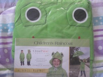 Cloudnine Children's Froggy Raincoat, for ages 5-12 One size fits all - Fresh Colony