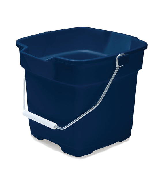 Rubbermaid FG296400ROYBL Roughneck Square Bucket, 12-Quart, Blue - Fresh Colony