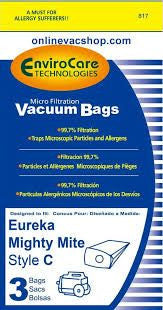 Eureka Mighty Mite Type C Single Wall Vacuum Bags - 9 Pack - Fresh Colony