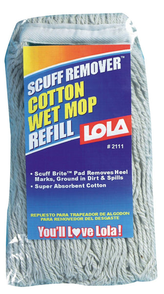 Lola 2111 Scuff Remover Cotton Wet Mop Refill - Fresh Colony