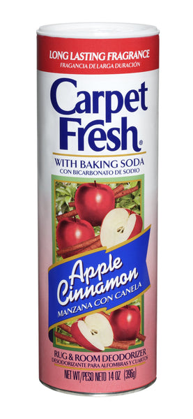 Carpet Fresh 277119 Rug and Room Deodorizer with Baking Soda, 14 oz. Apple Cinnamon Fragrance - Fresh Colony